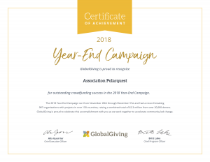 Polarquest achievements on GlobalGiving
