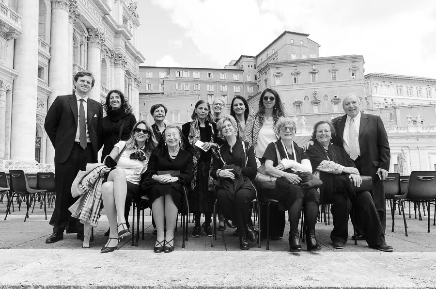 The Polarquest delegation at the Vatican.